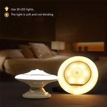 USB Аккумуляторная LED Night Light Инфракрасный Датчик Движения Индукции Тела Человека Настенный
