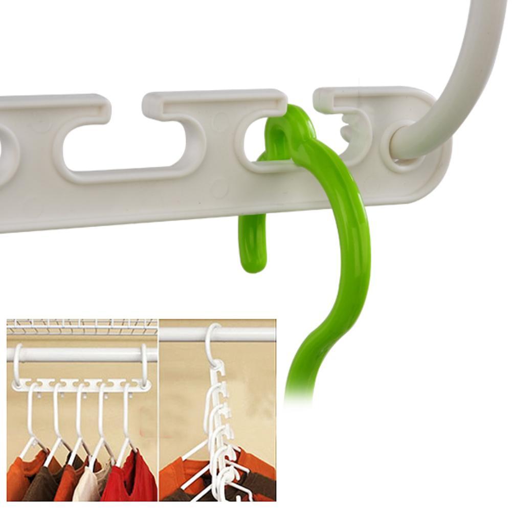 WITUSE 8X Vertical/Horizontal Magic Closet Organizer Plastic Wonder Clothes  Rack Hanger Storage Space Saver Magic Hanger Hook In Storage Holders U0026  Racks ...