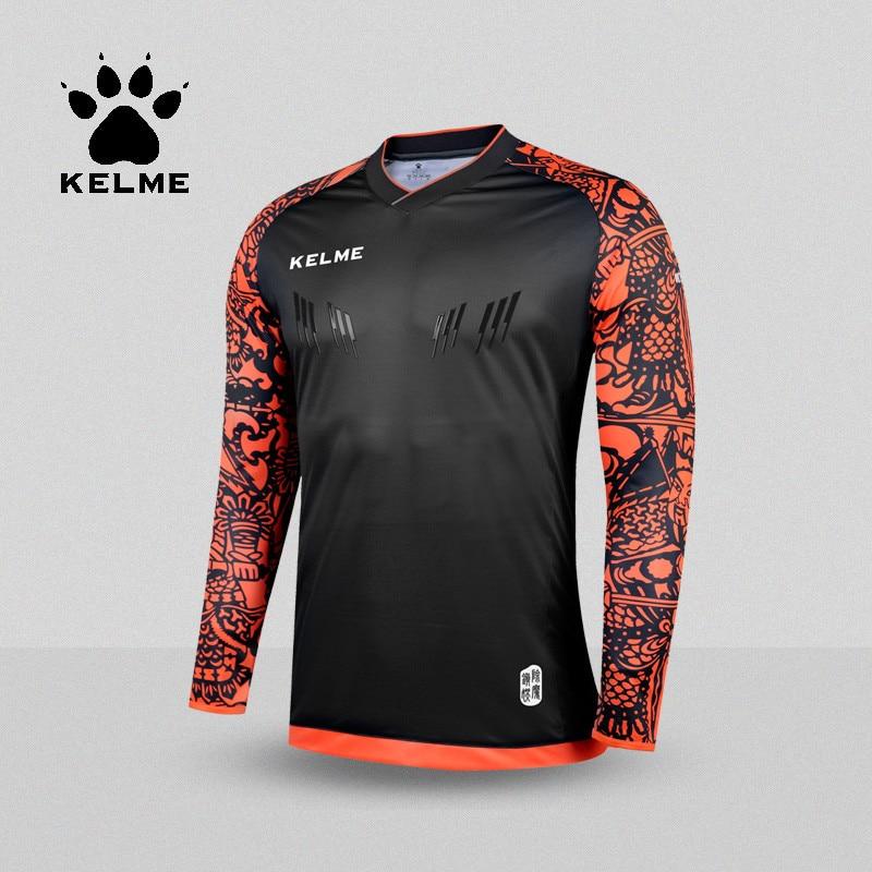 bb7c1eea609 KELME Tops Soccer Goalkeeper Clothing Men Soccer Jersey Kids Football  Goalkeeper Training Doorkeepers Long Sleeve K080-in Soccer Jerseys from  Sports ...