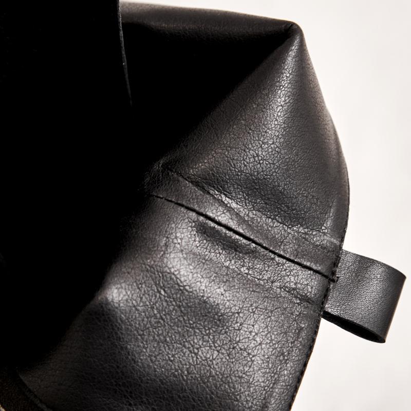 Negro De Invierno Genuino La Planos Rodilla 40 Remaches Cuero Las Botas Mujer 34 Cremallera Tamaño Caballero Cálido Zapatos Mujeres Taoffen Moda FqtRx