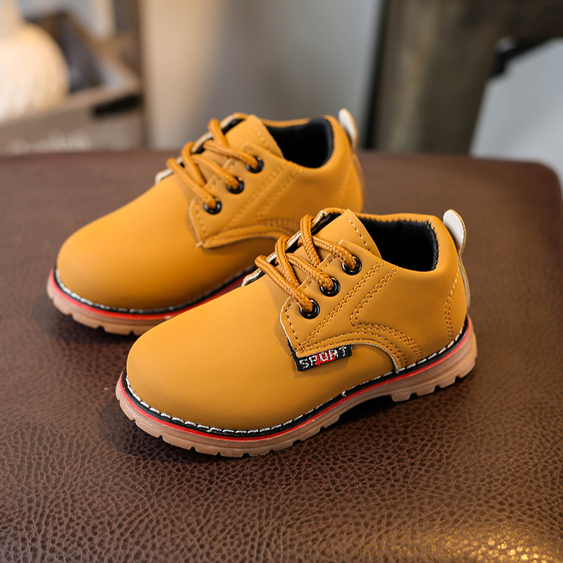 3ff441fa353e Top Selling Children Girls Martin Boots Kids Fashion Sneakers Baby Soft  Bottom Toddler Shoes Boys Leather Shoes Size 21-25