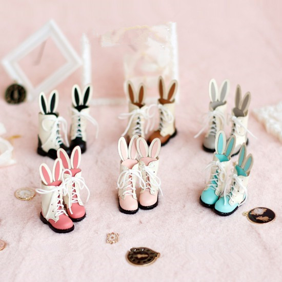 Rabbit ear long boots doll shoes suitable for Blyth Licca AZONE Momoko Lati JerryB doll shoes doll accessories все цены