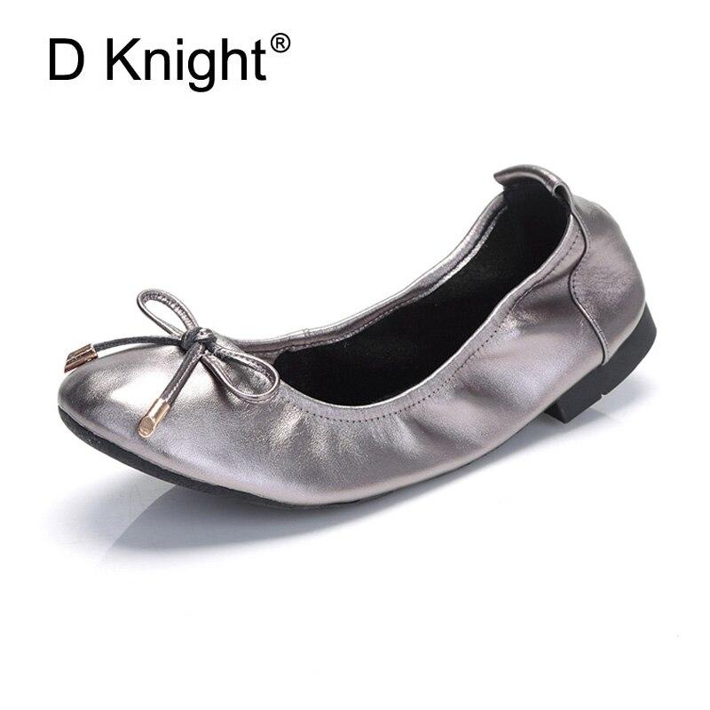 Simple coréen Designer Ballet chaussures plates femmes mocassins printemps 2018 chaussures d'entraînement femme en cuir véritable mocassins femmes chaussures