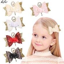 Ballerina Glitter Bow Sparkly Hair Clip for Women Girls Hairpin Children Kids Barrettes Hair Accessories glitter bow hair clip