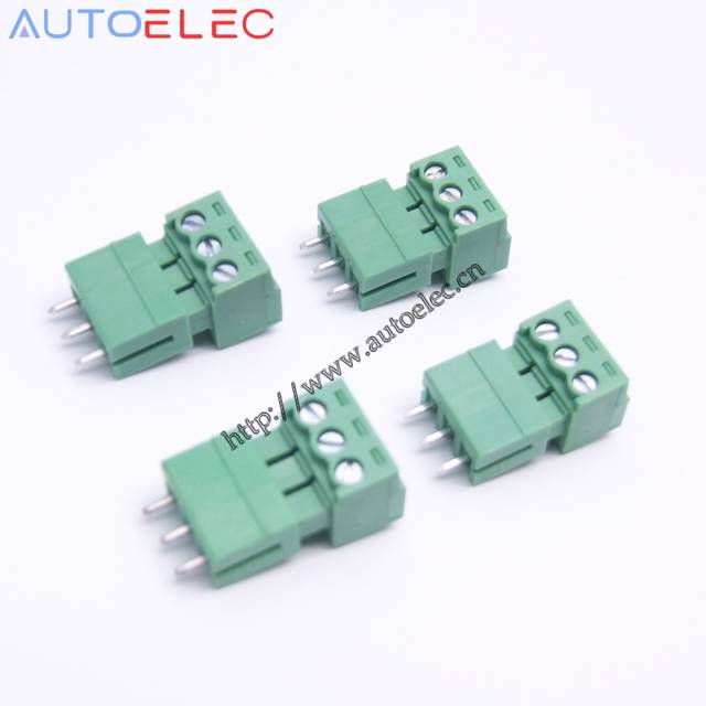 100sets 3pin Pitch 3 50mm PCB Plug-in terminal blocks connector straight  pin male and female for PHOENIX Tyco Weidmuller