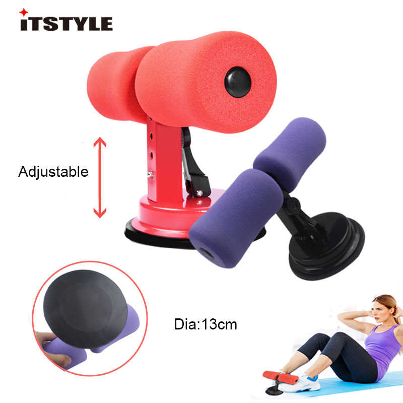 Sit-ups Assistant Device-Multi-function Adjustable Sit-up Assistant Device Portable Fitness Lose Weight Gym Training Exercise Equipment-Abdomen Healthy Home Sucker