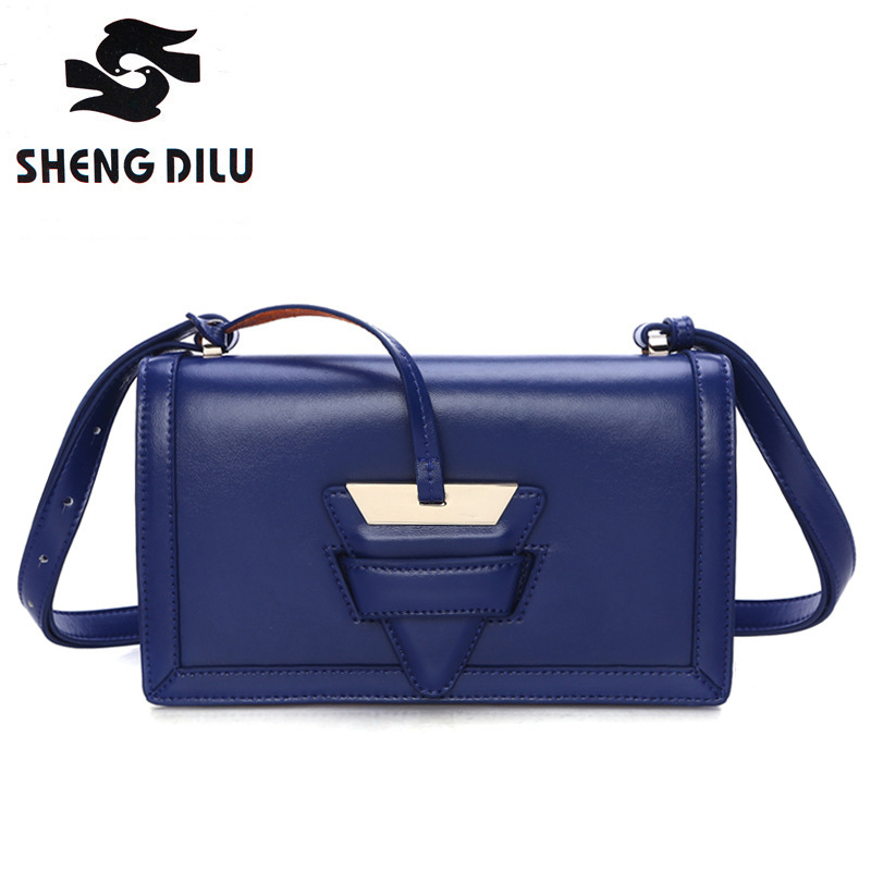 ФОТО Small packets shengdilu brand Spring new  2017 women genuine leather shoulder Messenger bag free Shipping