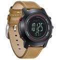 Bússola barômetro spovan cronógrafo de couro esporte digital relógios de quartzo esporte relogio masculino esportivo altímetro saat