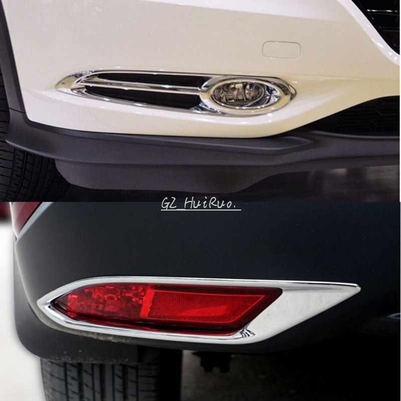New! Front + Rear Fog Light Lamp Cover Trim for Honda Vezel 2014 2015