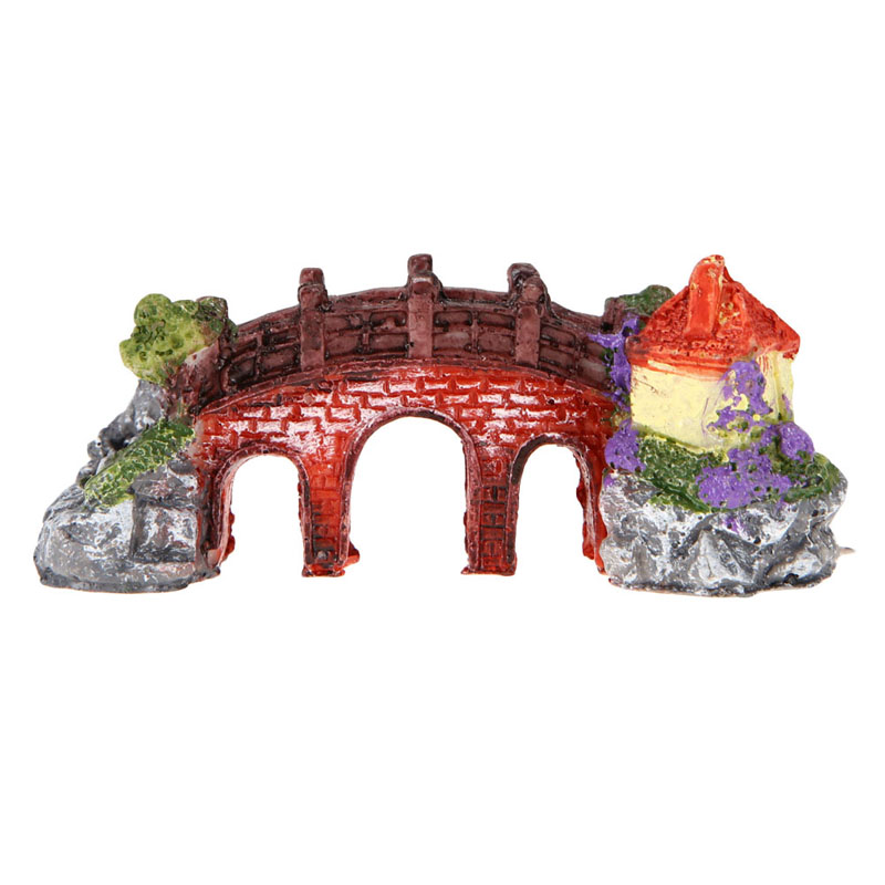 Bridge aquarium ornament free shipping worldwide for Unique fish tank decorations