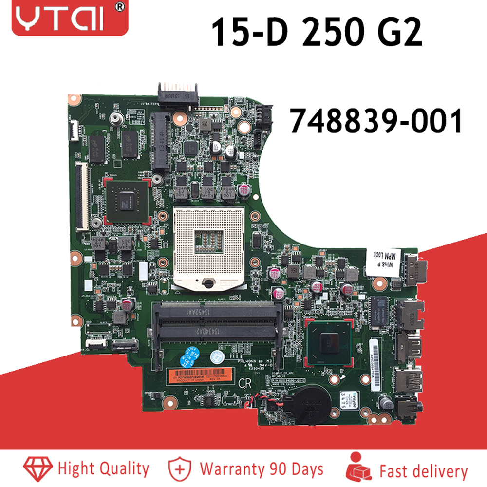 748839 001 for HP 15 15 D 250 G2 series laptop motherboard HM76 PGA989 P N