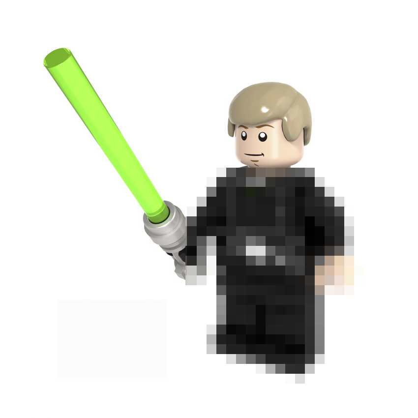 For Star Wars Figures Starwars Luke Leia JAR JAR Sith Trooper Grievous Han Solo Maz Anakin Darth Vader Yoda Building Blocks Toys