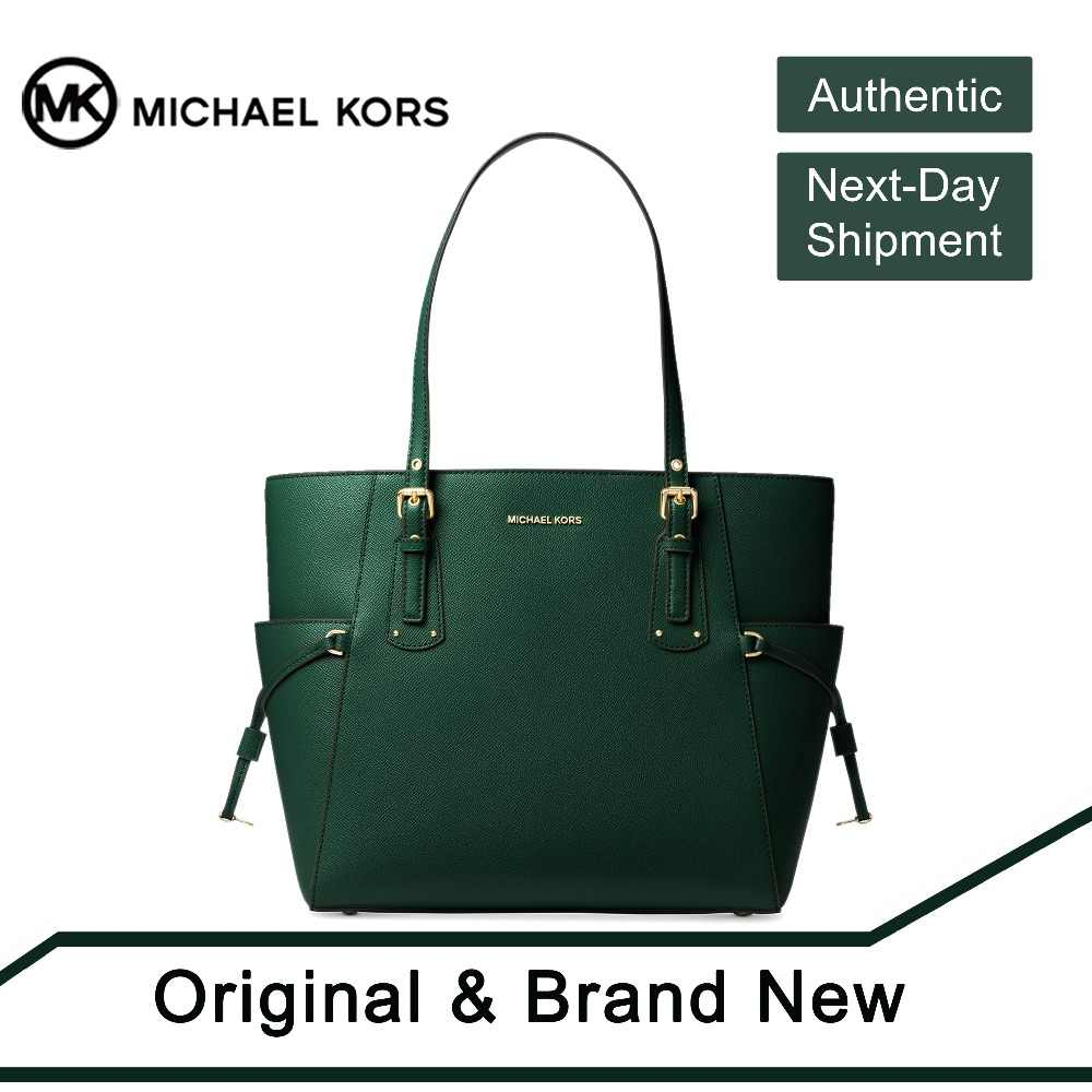 17233f6ea5a8 Detail Feedback Questions about Michael Kors Voyager East West Crossgrain  Leather Tote (Racing Green/Gold) by MK on Aliexpress.com | alibaba group