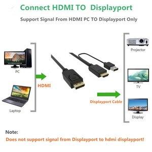 Image 3 - Hdmi zu Displayport Kabel mit usb Power Adapter Hdmi zu DP Stecker auf Stecker Konverter 2m für Macbook Dell monitor hdtv PS3