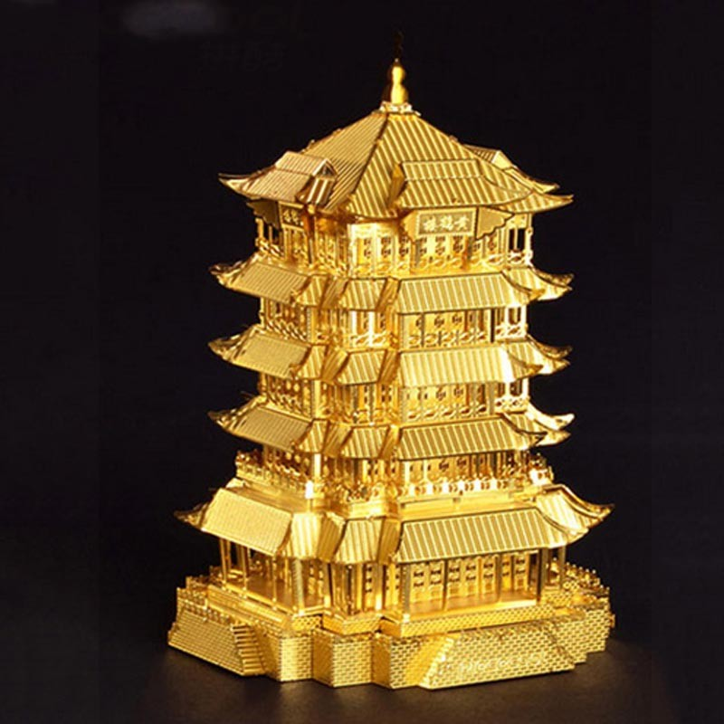 3D-Yellow-Crane-Tower-Metal-Puzzle-Famous-Ancient-Buildings-Kid-DIY-Interesting-Toys-Adults-Manual-Gift-TK0093 (4)