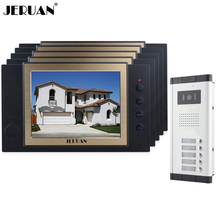 "JERUAN Apartment 5 Doorbell Intercom 8"" TFT Video Door Phone Record Intercom System 700TVL IR Camera For 5 Household In stock"