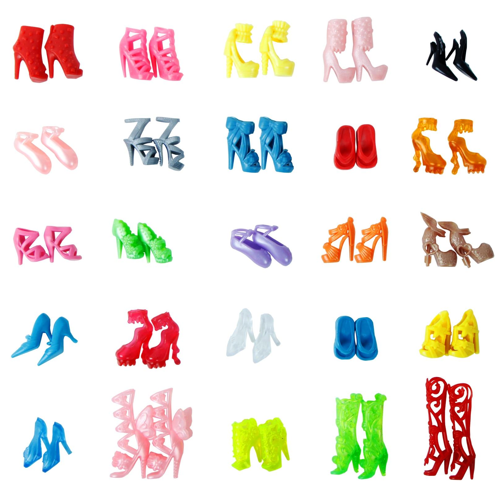 4df61f3dbf7ef6 Losowo 10 par moda kolorowe buty szpilki sandały sukienka odzież akcesoria  dla lalka Barbie prezent dziewczyna zabawki darmowa wysyłka w Losowo 10 par  moda ...