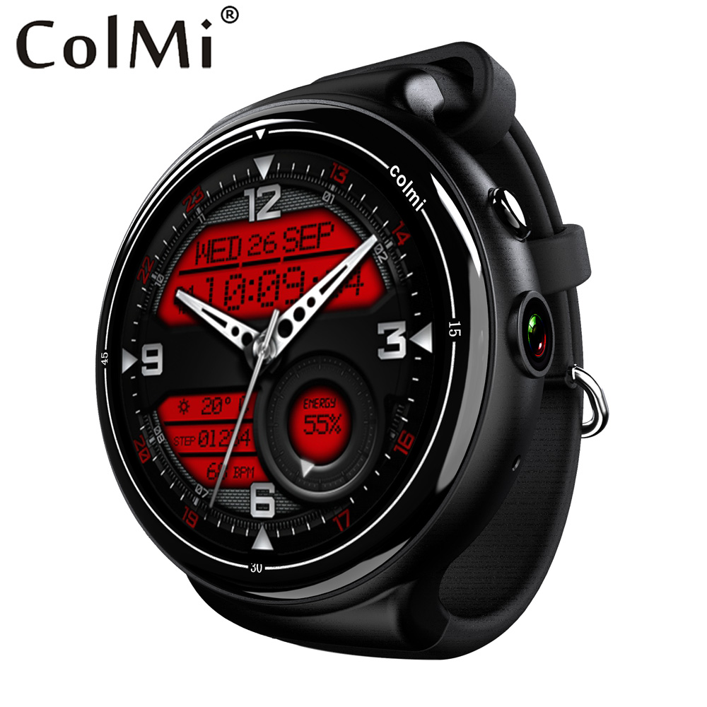 Colmi i2 Smartwatch Android 5.1 OS 2GB + 16GB 2MP WIFI 3G GPS Heart Rate Monitor Bluetooth 4.0 MTK6580 Quad Core Smart Watch no 1 d6 1 63 inch 3g smartwatch phone android 5 1 mtk6580 quad core 1 3ghz 1gb ram gps wifi bluetooth 4 0 heart rate monitoring