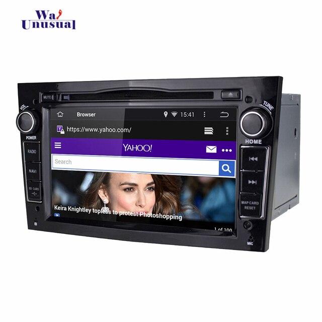 Lecteur Radio 7 pouces Android 5.1 pour Opel Astra 2004-2009 pour Vectra 2005-2008 pour Zafira 2005-2010 avec carte WIFI BT