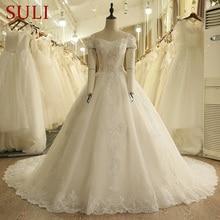 SuLi SL-9007 Vintage Off the Shoulder Wedding Dress
