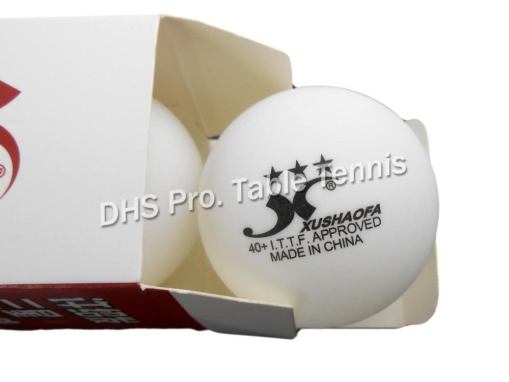 6x ITTF Apprved XUSHAOFA 3 Star 40+ New Material Seamless PP Ball Table Tennis Ball Ping Pong Ball