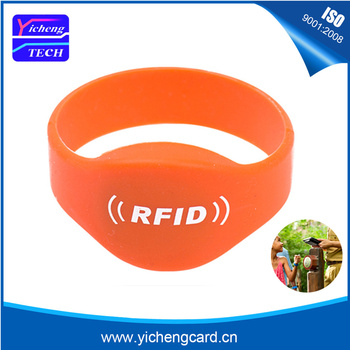 100pcs 125Khz EM4100 read only RFID Silicone Wristband RFID Wristband