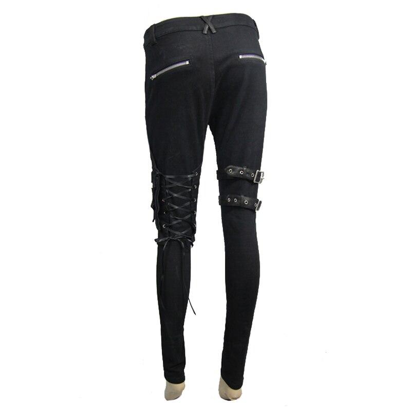 Algodón Cráneo Steampunk Mujeres Moda Las Esqueleto Casuales Decoración Negro Leggings Para De Patrón Pantalones Gótico Remache Con gax4tAq