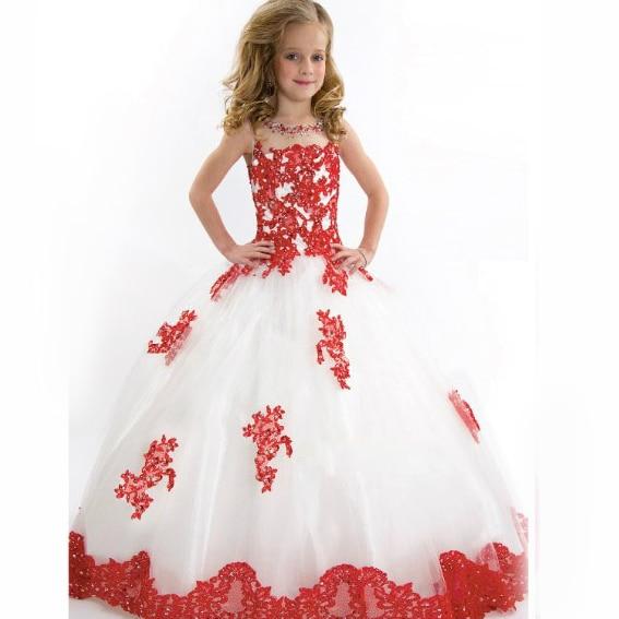 ef63acaac27 Robes de bal robes pour filles 10 et 11 ans nouveau année enfants  adolescents 13 ans fille Fleur de bal Appliqued long robe dans Robes de  Mère et Enfants ...