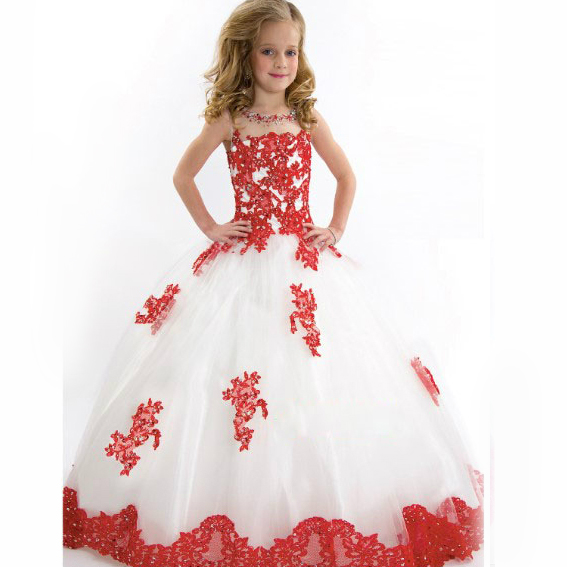 ball gowns dresses for girls 10 and 11 years new year children teenagers 13 years girl Flower prom Appliqued long dress years