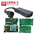 Alta calidad A + + + Lexia Lexia 3 V48 Diagbox Chips Completo V 7.65 Firmware 921815C Para Citroen Peugeot PP2000 V25 Lexia3 libre de DHL