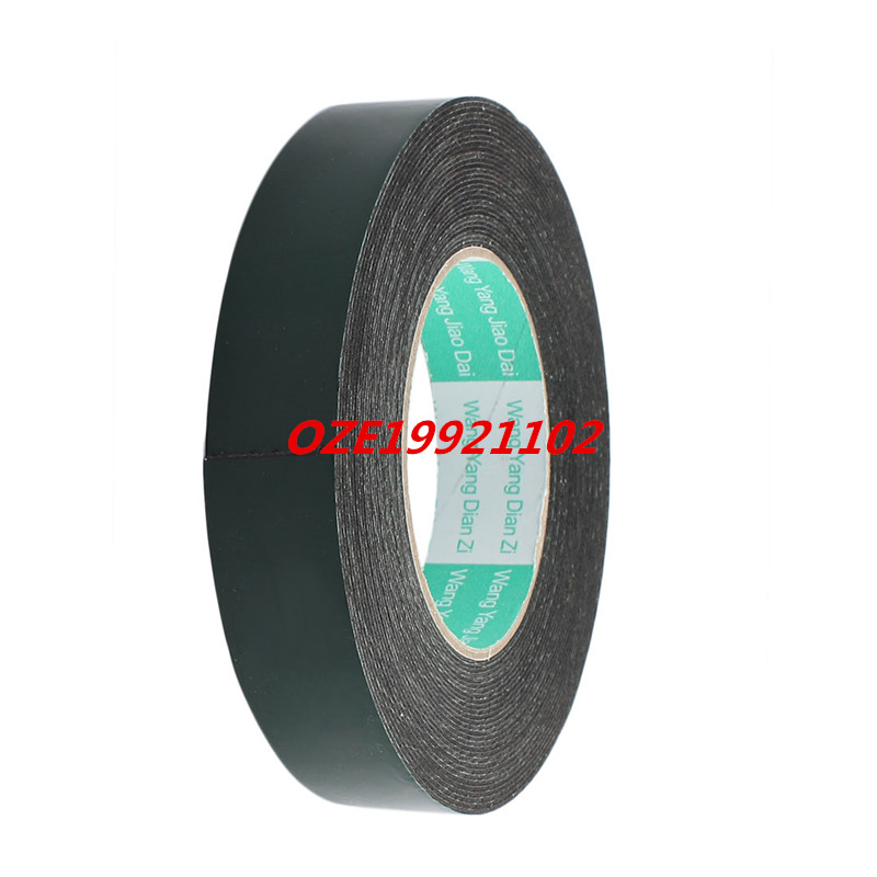 10M Length 25mm x 1mm Dual-side Self Adhesive Shockproof Sponge Foam Tape 2pcs 2 5x 1cm single sided self adhesive shockproof sponge foam tape 2m length