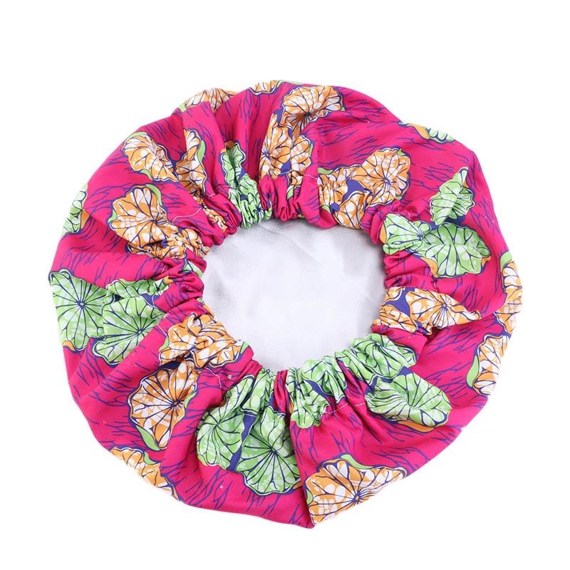 Bonnets Turban Satin-Lined Print-Fabric Night-Sleep-Hat Ankara Large African-Pattern