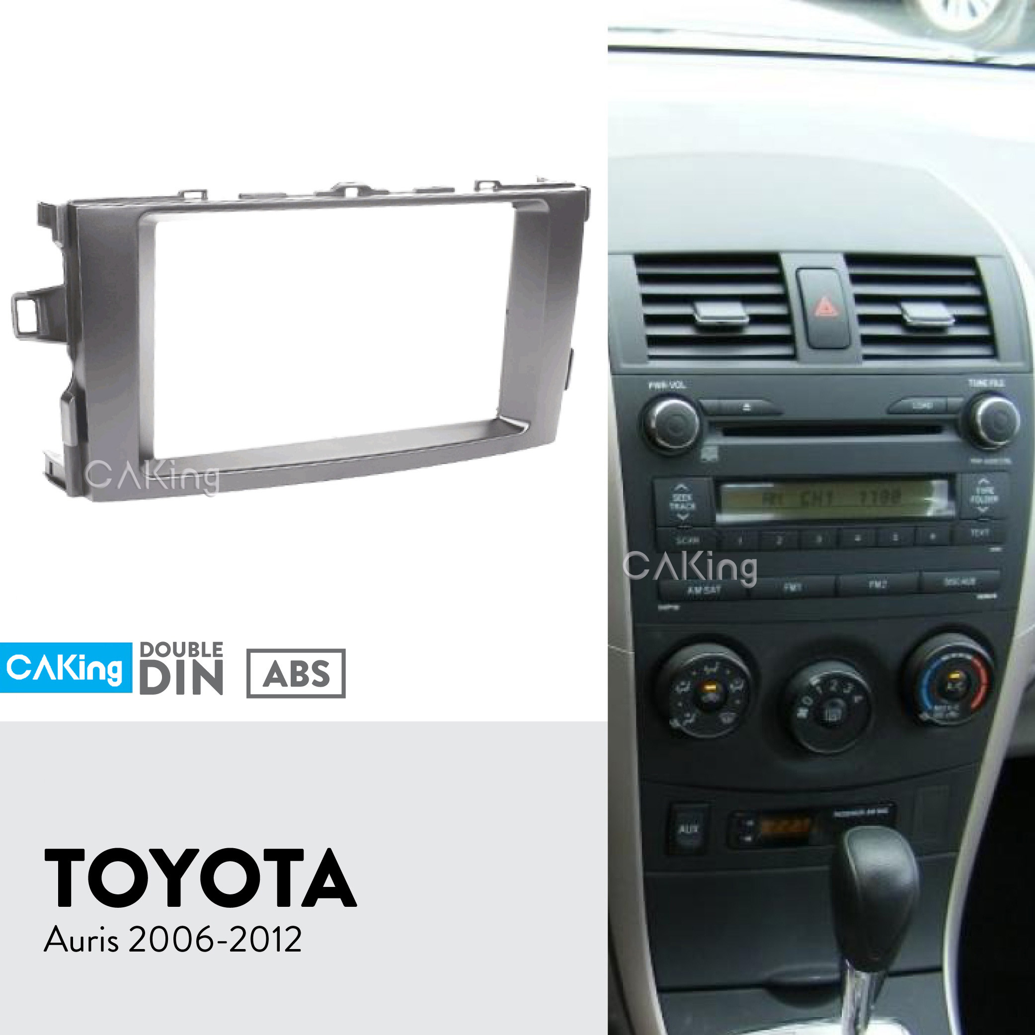 Double DIN Car Stereo Fascia Fitting Kit Steering Control for Toyota Prius 2010/>