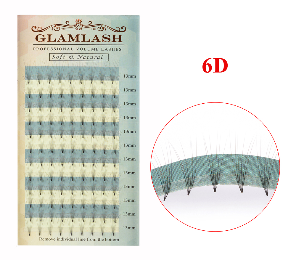 GLAMLASH 2D 3D 4D 5D 6D 0 07 Thickness High Quality Individual Pre fanned Volume Lashes Eyelash Extension in False Eyelashes from Beauty Health