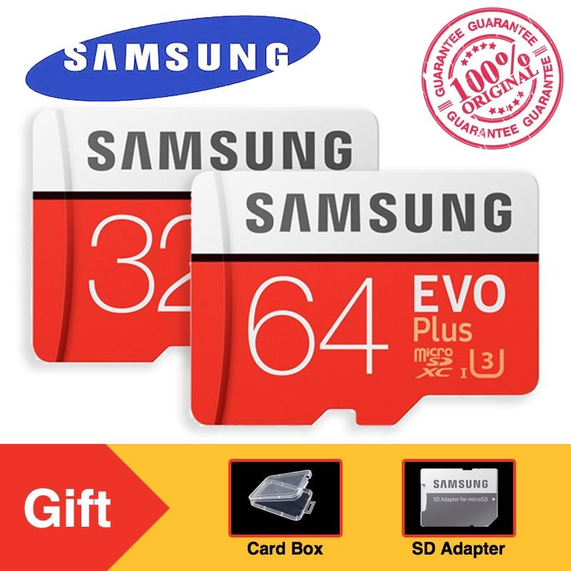 SAMSUNG EVO Plus Micro SD Memory Card 32GB 64GB 128GB 256GB SDHC/SDXC U3 C10 UHS-I 4K HD T