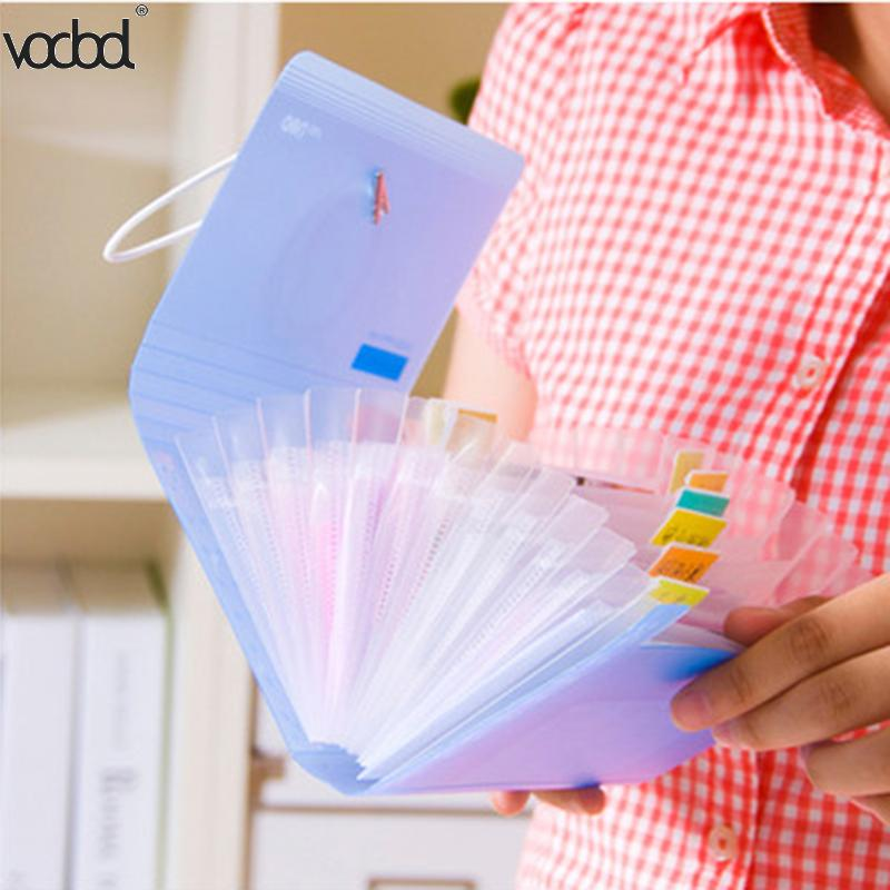 Translucent Plastic A6 File Folder Small Document Bag Expanding Wallet Bill Folders For Documents Filing Bags Fichario Escolar