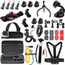 Zookkbb Camera Accessories Kit 28 in 1 Head Chest Strap Bike Handlebar Large carry bag 360 Degree rotation for EKen H8 H9 H9R