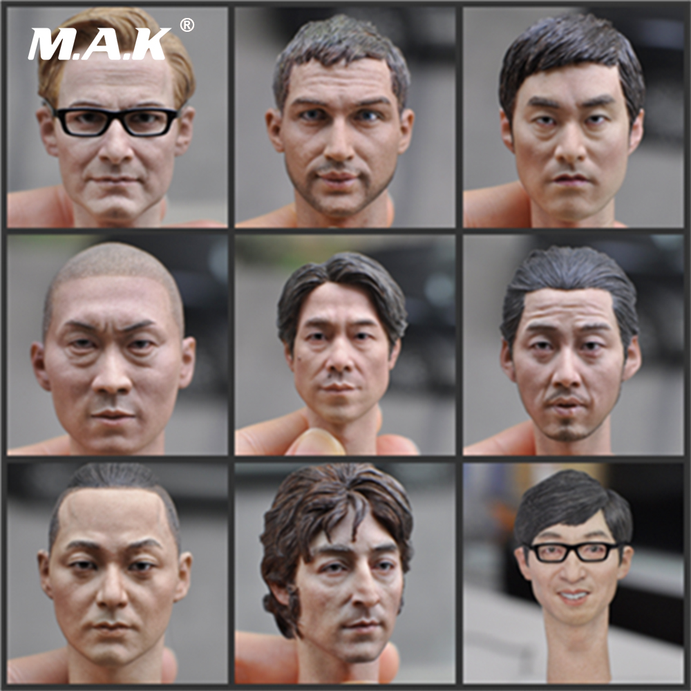 New 9 Styles 1/6 Scale Europe Man Head Scuplt Custom Man Head Carving For 12''  Action Figure Body Without Neck