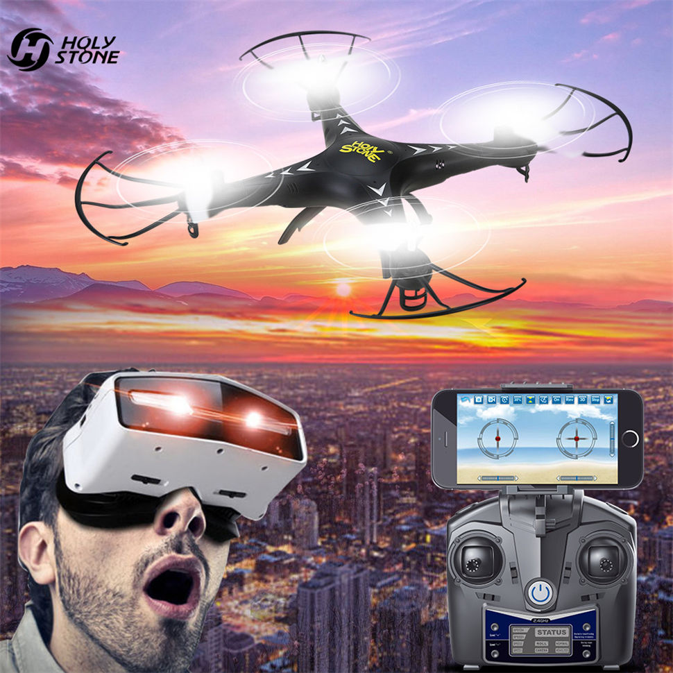 Holy Stone HS110 FPV RC Drone with WiFi Camera with 4GB TF RC Helicopter 720P HD Live Video 6-Axis Gyro Altitude Hold Quadcopter syma x14w fpv drone with built in camera hd live video headless mode 2 4g 4ch 6 axis gyro rc quadcopter with altitude hold