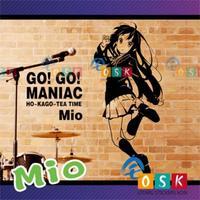 Autumn mountain wall stickers soft tone girls school uniform version of animation stickers