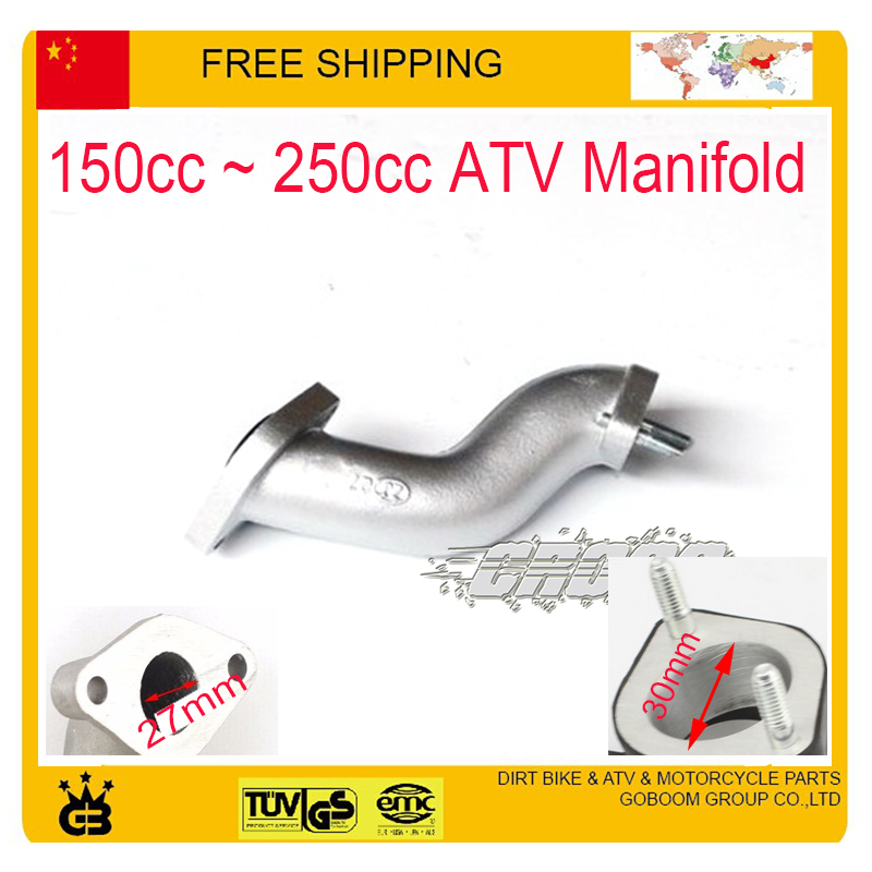 125cc 150cc 250cc ATV 200cc quad S shape intake pipe manifold pipe cg engine 27mm 30mm f ...