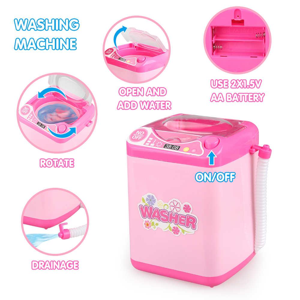 4 шт., игрушки для девочек, стиральная машина, игрушка для дома, игра, ролевые игры, развивающие игрушки для малышей, игрушки, стиральная машина, детский подарок на день рождения