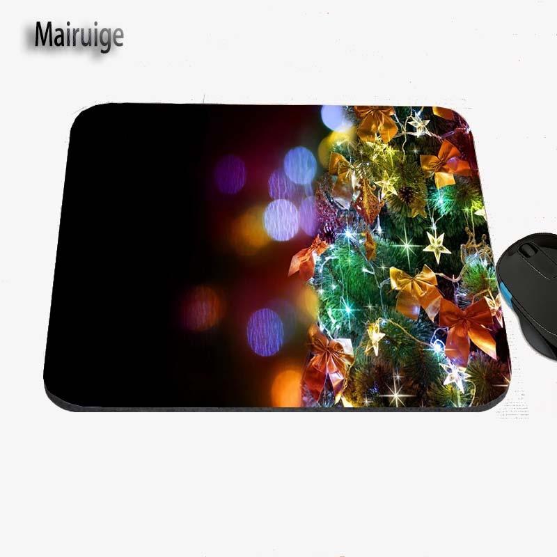 2017 Christmas Tree Art Custom Design, Anti-slide Game Mouse Mat, Rubber Rectangular Notebook Computer Mat, Decorate Desk
