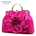 SUNNY SHOP 2017 Spring New Flower Flora Women Shoulder Bags High Quality Socialite Women Bag Designer Women Evening Bags