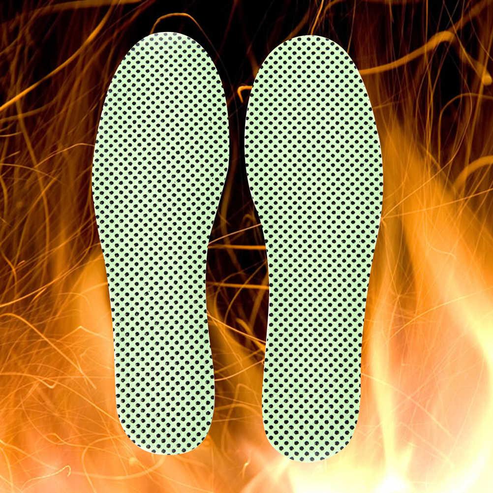 1 par de plantillas naturales de turmalina autocalentantes suelas de invierno para calzado plantillas calentadas de autocalentamiento plantillas de reflexología cálida