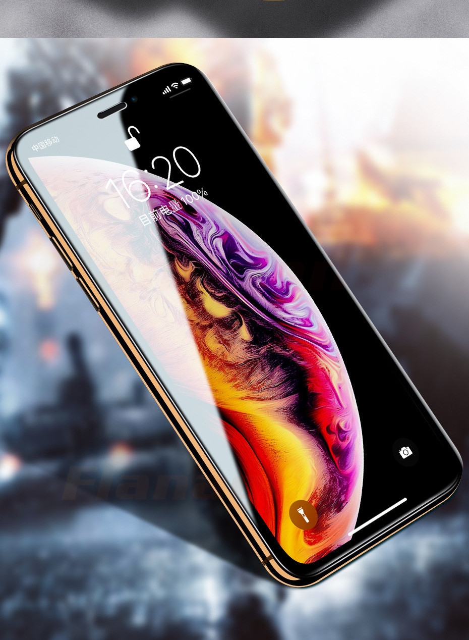 15D Protective Glass on the For iPhone 6 6s 7 8 plus XR X XS glass full cover iPhone Xs Max Screen Protector Tempered Glass 14