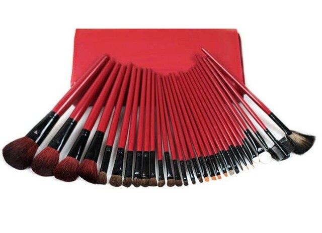 30 Piece Master Studio red Makeup Brush Set Cosmetic Brush Powder Foundation Eyeshadow Makeup Brushes Tool