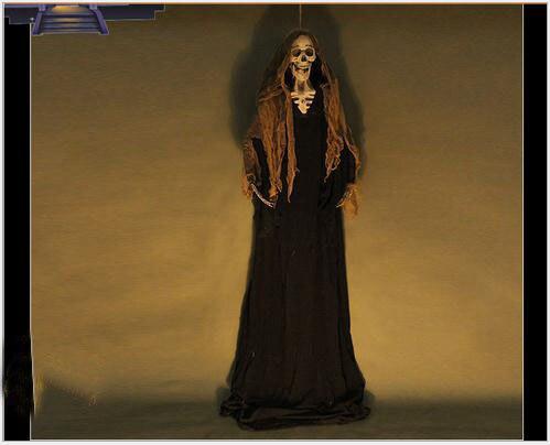 Halloween Alat Peraga Bar Rumah Hantu Cahaya Tergantung Hantu