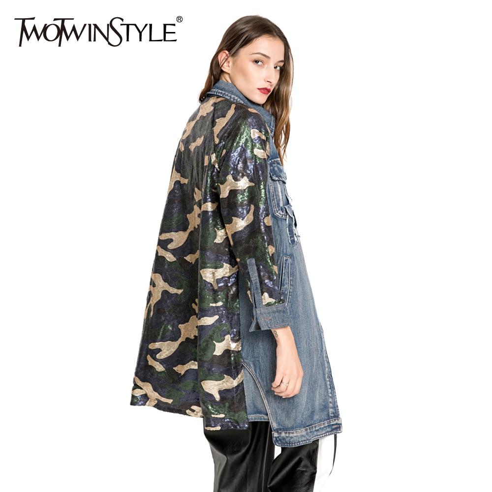Twotwinstyle Frauen Blazer Mantel Weibliche Hit Farbe Langarm Zurück Split Jacke Weibliche Große Größe Herbst Casual Kleidung 2018 Blazer