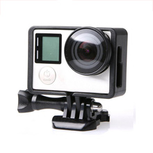 עבור GoPro אביזרי GoPro Hero 4 3 + 3 מגן גבול מסגרת מקרה למצלמות דיור דרכי פרו Hero4 3 + 3 פעולה מצלמה